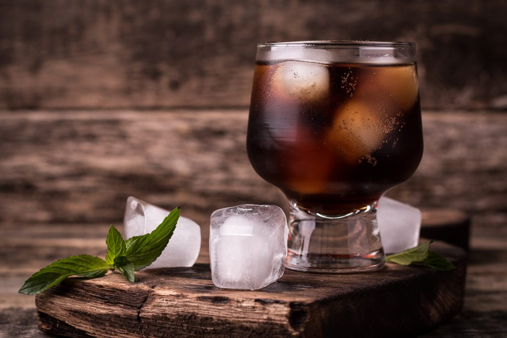 Glass of Iced Cold Brew Coffee