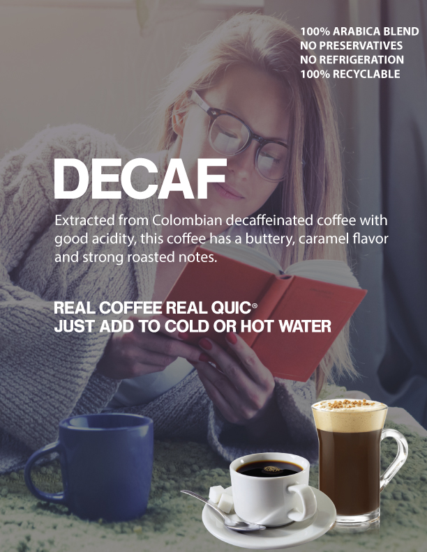 QuicFix® Decaffeinated Cold Brew Coffee
